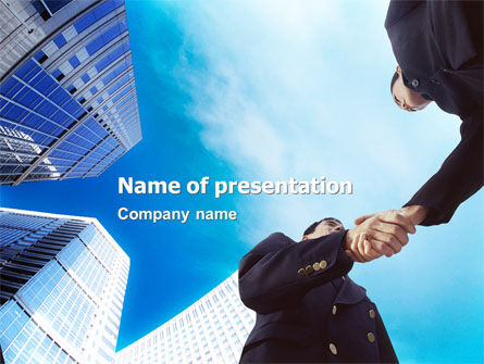 Business: Business Meeting Outdoor PowerPoint Template #01818