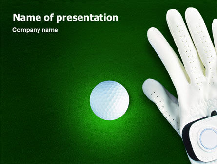 Sports: Golf Equipment PowerPoint Template #01820