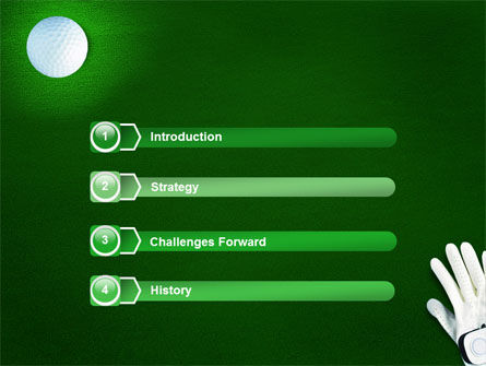 Golf Equipment PowerPoint Template, Slide 3, 01820, Sports — PoweredTemplate.com