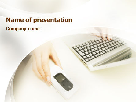 Computers: Computer Gadget PowerPoint Template #01821