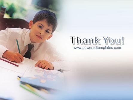 Schoolboy PowerPoint Template Slide 20