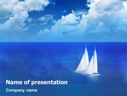 Nature & Environment: Sea Horizon PowerPoint Template #01823