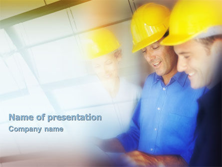 Construction: Bouw Ontwerp Discussie PowerPoint Template #01824