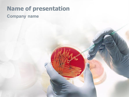 Medical: Microbiology PowerPoint Template #01829