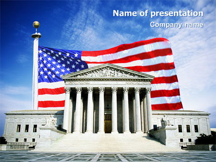 Supreme Court PowerPoint Template, 01831, America — PoweredTemplate.com