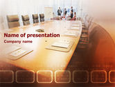 Business: Start Of The Conference PowerPoint Template #01832