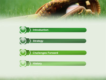 Baseball Glove And Bat Powerpoint Template Backgrounds