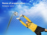 Sports: Goalkeeper PowerPoint Template #01835