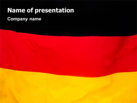 Flags/International: German Flag PowerPoint Template #01837