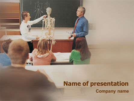 Education & Training: Anatomy Class PowerPoint Template #01841