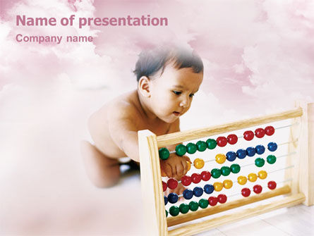 Education & Training: Baby Learning PowerPoint Template #01845