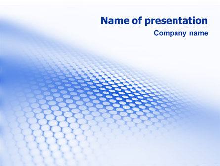 Blue Grid PowerPoint Template, 01847, Abstract/Textures — PoweredTemplate.com
