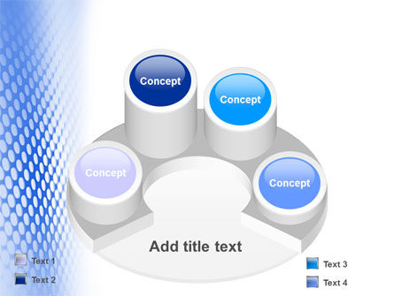 Blue Grid PowerPoint Template Slide 12