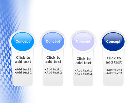 Blue Grid PowerPoint Template Slide 5