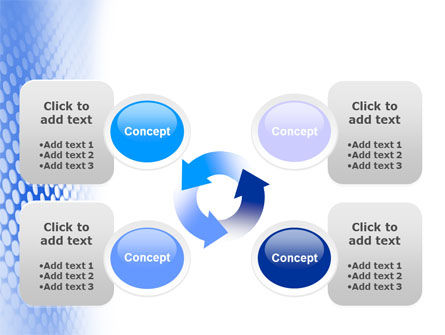 Blue Grid PowerPoint Template Slide 9