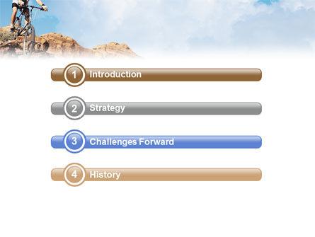 Mountain Biking In Rocks PowerPoint Template, Slide 3, 01849, Sports — PoweredTemplate.com