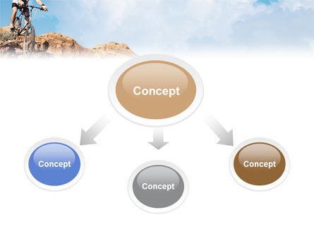 Mountain Biking In Rocks PowerPoint Template, Slide 4, 01849, Sports — PoweredTemplate.com