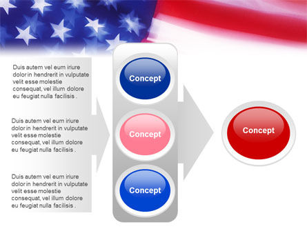 Flag of the United States of America PowerPoint Template Slide 11