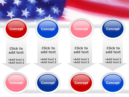 Flag of the United States of America PowerPoint Template Slide 18