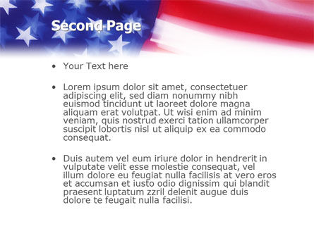 Flag of the United States of America PowerPoint Template Slide 2