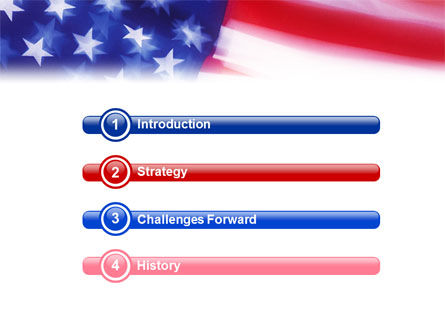 flag of the united states of america powerpoint template