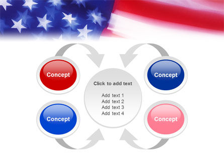 Flag of the United States of America PowerPoint Template Slide 6