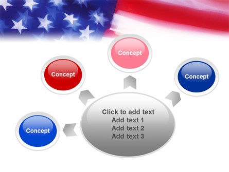 Flag of the United States of America PowerPoint Template Slide 7