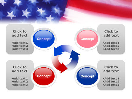 Flag of the United States of America PowerPoint Template Slide 9
