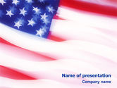 Flags/International: Flag of the United States of America PowerPoint Template #01851