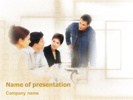 Business Concept PowerPoint Template, 01852, Consulting — PoweredTemplate.com