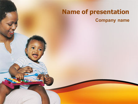 Mother and Child PowerPoint Template, 01855, People — PoweredTemplate.com