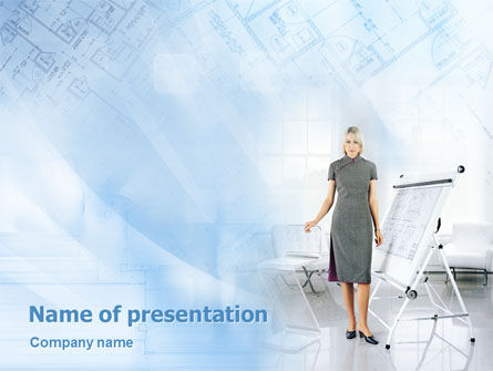 Careers/Industry: Architect PowerPoint Template #01856
