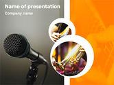 Art & Entertainment: Plantilla de PowerPoint - concierto de música #01858