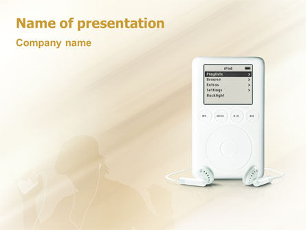 Technology and Science: Mp3 Player PowerPoint Template #01860
