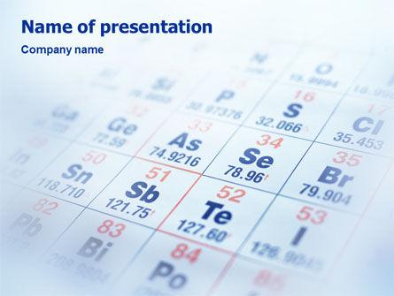 Periodic Table PowerPoint Template, 01861, Technology and Science — PoweredTemplate.com