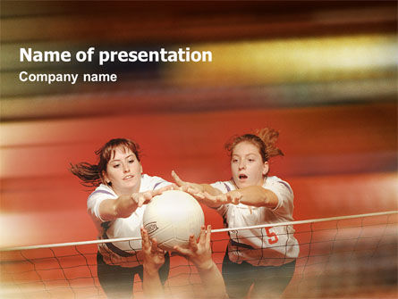 Sports: Volleyball PowerPoint Template #01862