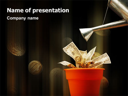 Cultivating Investment PowerPoint Template, 01863, Financial/Accounting — PoweredTemplate.com