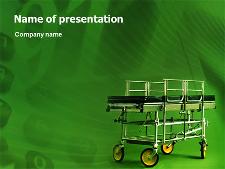 Stretcher PowerPoint Template, 01865, Medical — PoweredTemplate.com