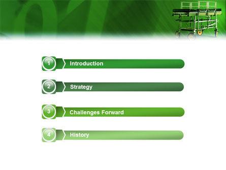 Stretcher PowerPoint Template, Slide 3, 01865, Medical — PoweredTemplate.com