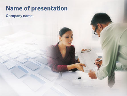 Personal Secretary PowerPoint Template, 01866, Education & Training — PoweredTemplate.com