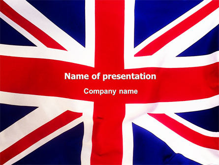 Flags/International: British Flag PowerPoint Template #01868