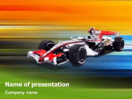 Formula One PowerPoint Template, 01874, Sports — PoweredTemplate.com