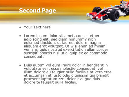 Formula One PowerPoint Template, Slide 2, 01874, Sports — PoweredTemplate.com