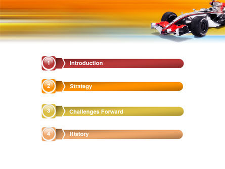 Formula One PowerPoint Template, Slide 3, 01874, Sports — PoweredTemplate.com