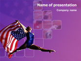 Sports: American Sports PowerPoint Template #01877