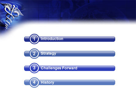 Caduceus In Deep Blue Colors PowerPoint Template, Slide 3, 01881, Medical — PoweredTemplate.com