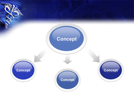 Caduceus In Deep Blue Colors PowerPoint Template, Slide 4, 01881, Medical — PoweredTemplate.com
