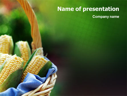 Corn PowerPoint Template, 01882, Agriculture — PoweredTemplate.com