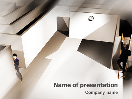 Business Concepts: Office Labyrinth PowerPoint Template #01883