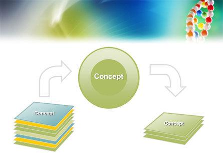 DNA On A Green Yellow Blue PowerPoint Template, Slide 4, 01884, Medical — PoweredTemplate.com